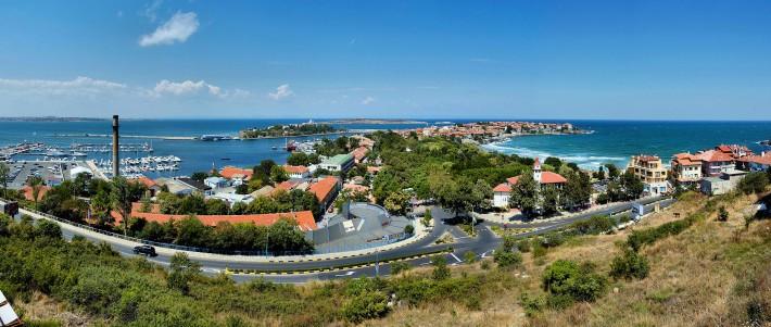 Панорамна снимка на Созопол